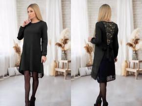 Γυναικείο φόρεμα με εντυπωσιακή πλάτη 5405 μαύρο