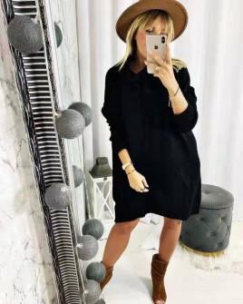Γυναικείο μπλουζοφόρεμα ζιβάγκο  8397 μαύρο