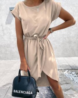 Γυναικείο φόρεμα κρουαζέ 30688 μπεζ