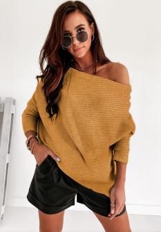 Γυναικεία έξωμη μπλούζα 2599 κίτρινη