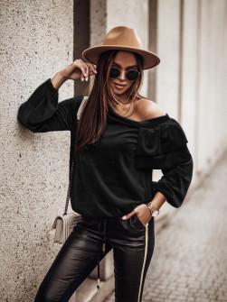 Γυναικεία μπλούζα βελουτέ 3294 μαύρη/μπλούζα