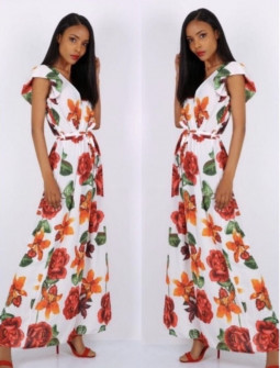 Γυναικείο φόρεμα 10434 λευκό