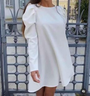 Γυναικείο χαλαρό φόρεμα 5476 άσπρο