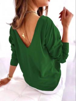 Γυναικεία εξώπλατη μπλούζα 51036 πράσινη