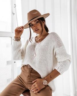 Γυναικείο πουλόβερ 3241 άσπρο