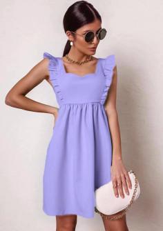 Γυναικείο φόρεμα με εντυπωσιακό ντεκολτέ 20510 μωβ