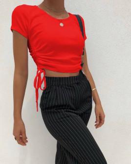 Γυναικεία μπλούζα με σούρα 12222