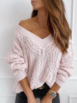 Γυναικείο πουλόβερ 8112 ροζ