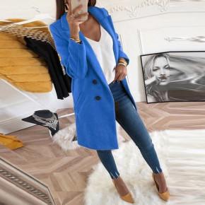 Γυναικείο στιλάτο παλτό 18829 μπλε