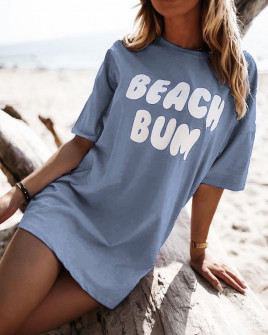 Γυναικείο μπλουζοφόρεμα 3321 σκούρο μπλε