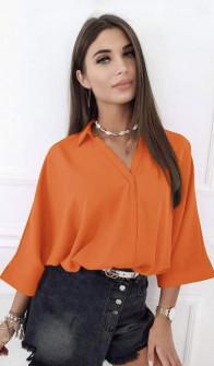 Γυναικεία μπλούζα με βαθύ ντεκολτέ 5912 πορτοκαλί