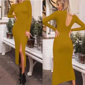 Γυναικείο φόρεμα 20580 κίτρινο