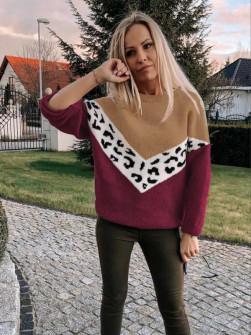 Γυναικείο πουλόβερ 71006 μπορντό