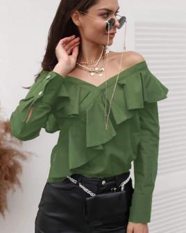 Γυναικεία εντυπωσιακή μπλούζα 3216 χακί