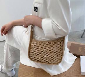 Γυναικεία στιλάτη τσάντα B483 καμηλό