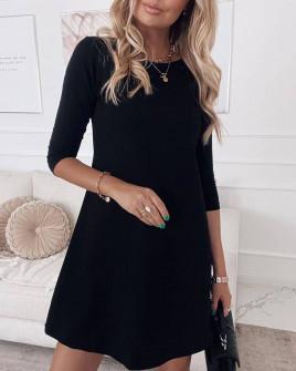 Γυναικείο ριχτό φόρεμα 3796 μαύρο