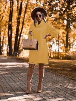 Μπλουζοφόρεμα ζιβάγκο 2690 κίτρινο