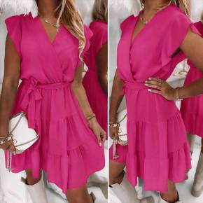 Γυναικείο φόρεμα κρουαζέ 5708 φούξια
