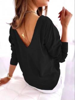 Γυναικεία εξώπλατη μπλούζα 51036 μαύρη