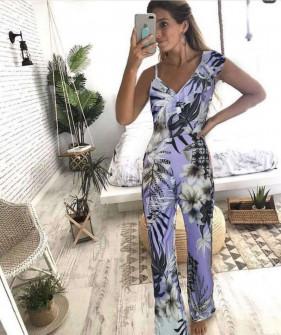 Γυναικεία εντυπωσιακή ολόσωμη φόρμα 2326 μωβ