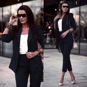 Γυναικείο σετ σακάκι και παντελόνι 3970 μαύρο