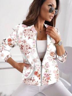 Γυναικείο μπουφάν με print 5039903