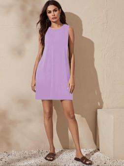 Γυναικείο μπλουζοφόρεμα 5175 μωβ