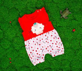Βρεφική ολόσωμη φόρμα φράουλα 50515549 κόκκινη
