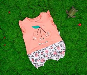 Βρεφική ολόσωμη φόρμα κερασάκι 50515538 ροζ