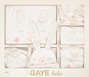 Βρεφικό σετ νεογέννητου 10τμχ.  505678 άσπρο/πούδρα