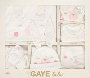 Βρεφικό σετ νεογέννητου 10τμχ. 505678 άσπρο/ροζ