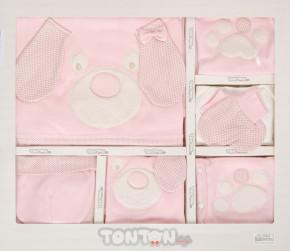 Βρεφικό σετ νεογέννητου 10τμχ. 505142 ροζ