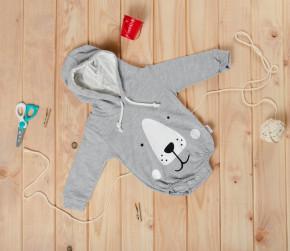 Βρεφικό κορμάκι αρκουδάκι 5055230 γκρι