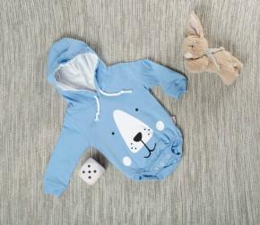 Βρεφικό κορμάκι αρκουδάκι 5055230 γαλάζιο