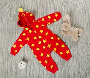 Βρεφική ολόσωμη φόρμα αστεράκια 5054329 κόκκινη