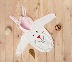 Βρεφικό κορμάκι λαγουδάκι 5055254 άσπρο/ροζ