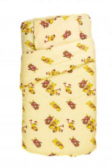 Βρεφικό σετ σεντόνια και κουβέρτα ζώα BSK001305 κίτρινο