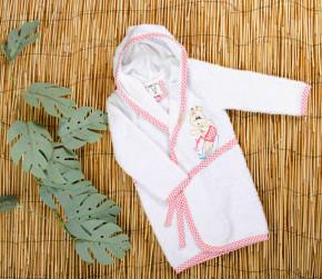 Βρεφικό μπουρνούζι 5050451 άασπρο/ροζ
