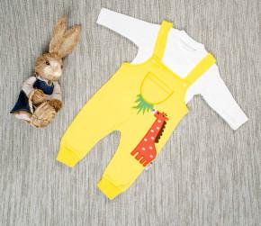 Βρεφικό σετ ολόσωμη φόρμα και μπλούζα καμηλοπάρδαλης 5053613 κίτρινο