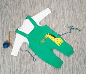 Βρεφικό σετ ολόσωμη φόρμα και μπλούζα καμηλοπάρδαλης 5053613 πράσινο