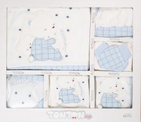 Бебешки комплект за изписване 10 части 505137 бял/син