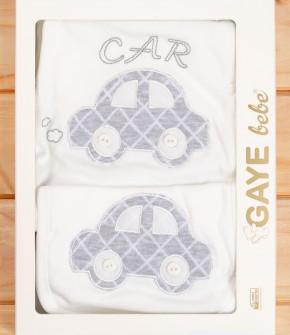 Бебешки комплект за изписване 5 части кола 50500767 сив