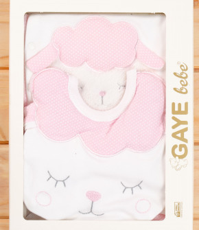Бебешки комплект за изписване 5 части овца 505766 розов