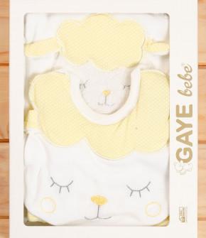 Бебешки комплект за изписване 5 части овца 505766 жълт