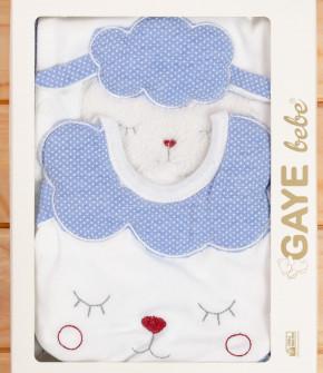 Бебешки комплект за изписване 5 части овца 505766 син