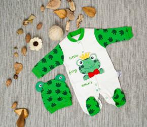 Бебешки комплект 2 части гащеризон и шапка 5052198 жабка