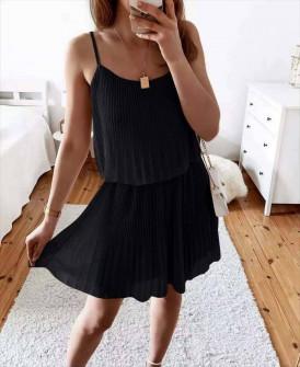 Γυναικείο φόρεμα σολέιγ 5868 μαύρο
