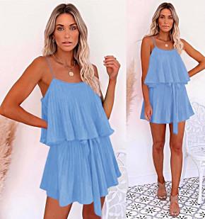 Дамска рокля солей 5199 светло синя