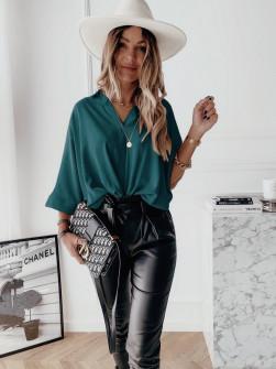 Γυναικεία χαλαρή μπλούζα 5287 τυρκουάζ