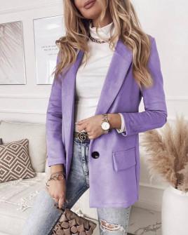 Γυναικείο βελούδινο σακάκι 3786 λιλα